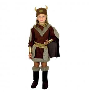 Disfarce Viking menina para que eles sejam com quem sempre sonharam