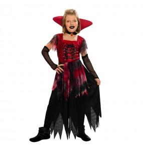 Disfarce Halloween Vampiresa da meia-noite meninas para uma festa Halloween