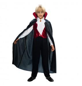 Disfarce Halloween Vampiro gótico para meninos para uma festa do terror