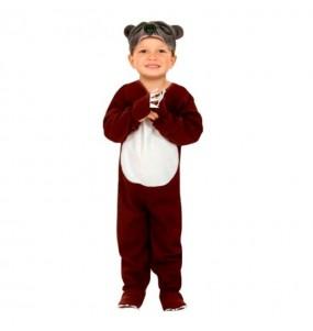 Disfarce Urso Marrom menino para deixar voar a sua imagina??o