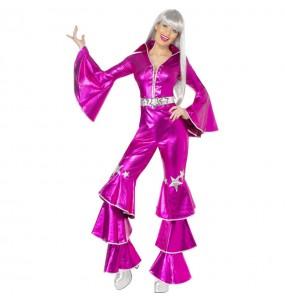 Disfarce original Disco Dancing Rosa mulher ao melhor preço