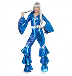 Disfarce original Disco Dancing Azul mulher ao melhor preço