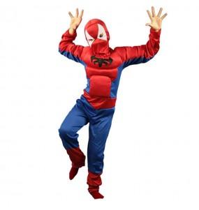Disfarce Aranha muscular menino para deixar voar a sua imaginação