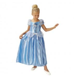 Disfarce Cinderela Fairytale menina para que eles sejam com quem sempre sonharam