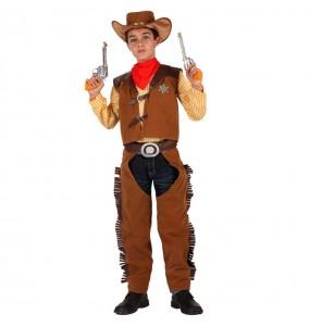 Disfarce Cowboy marrom menino para deixar voar a sua imaginação