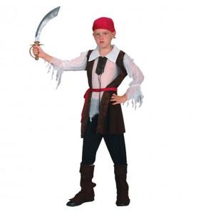 Disfarce Pirata bucaneiro menino para deixar voar a sua imaginação