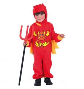 Disfarce Halloween Diabo meninos para uma festa do terror