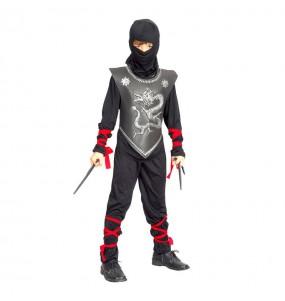 Disfarce Guerreiro Ninja menino para deixar voar a sua imaginação