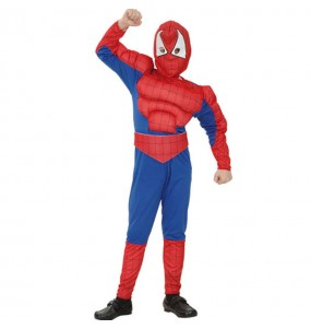 Disfarce m?sculo Spiderboy menino para deixar voar a sua imagina??o