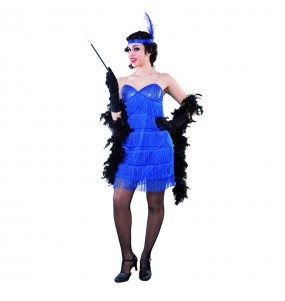 Disfarce original Charleston azul mulher ao melhor preço