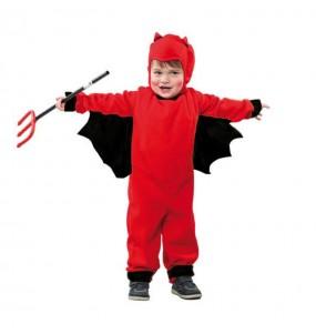 Disfarce Halloween Demónio meninos para uma festa do terror