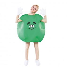 Disfarce Bombom verde adulto divertidíssimo para qualquer ocasião