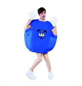 Disfarce Bombom azul adulto divertidíssimo para qualquer ocasião
