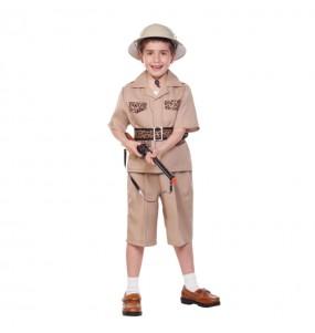 Disfarce Explorador Safari menino para deixar voar a sua imaginação