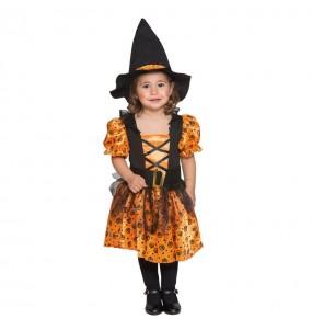 Disfarce Halloween Bruxa Laranja com que o teu bebé ficará divertido