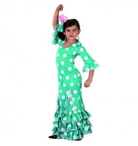 Disfarce Sevilhana verde menina para que eles sejam com quem sempre sonharam