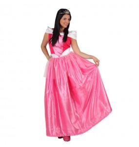 Disfarce original Princesa rosa mulher mulher ao melhor preço
