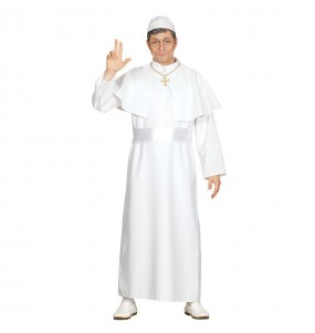 Disfarce Papa branco adulto divertidíssimo para qualquer ocasião