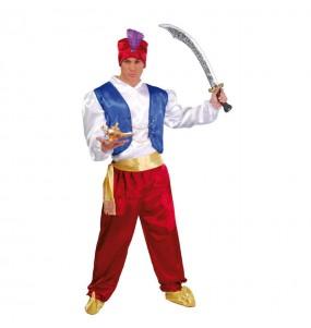 Disfarce Guerreiro Árabe Aladdin adulto divertidíssimo para qualquer ocasião