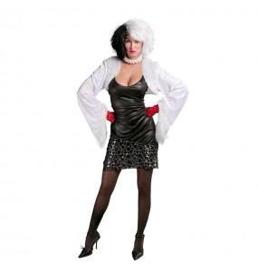 Disfarce original Vilã Cruella mulher ao melhor preço