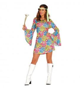 Disfarce original Hippie Flores mulher ao melhor preço