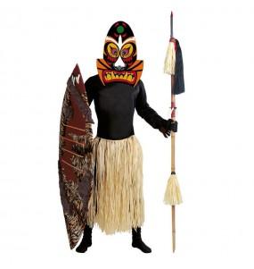 Disfarce Zulu Étnico adulto divertidíssimo para qualquer ocasião