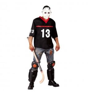 Fato de Jason Voorhees Sexta-feira 13 adulto para a noite de Halloween