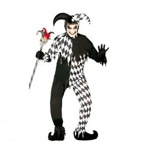 Fato de Joker preto adulto para a noite de Halloween