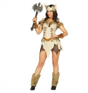 Disfarce original Viking bege mulher ao melhor preço