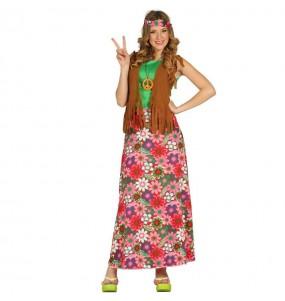 Disfarce original Hippie peace mulher ao melhor preço