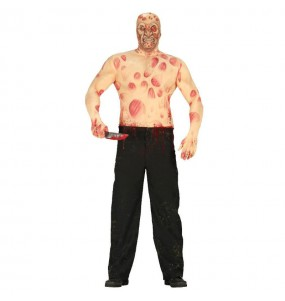 Fato de Freddy Krueger adulto para a noite de Halloween