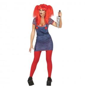Fato de Noiva Chucky mulher para a noite de Halloween