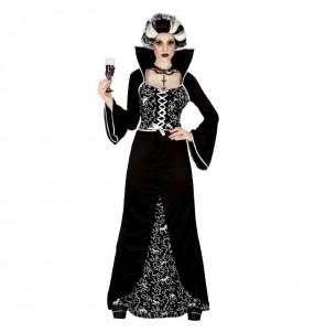 Fato de Vampiresa Royal mulher para a noite de Halloween