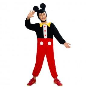 Disfarce Ratinho Mickey menino para deixar voar a sua imagina??o
