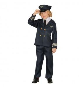 Disfarce Piloto do voo menino para deixar voar a sua imaginação