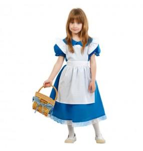 Disfarce Conto Alice no País das Maravilhas menina para que eles sejam com quem sempre sonharam