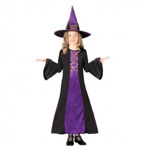 Disfarce Halloween Bruxa mau meninas para uma festa Halloween