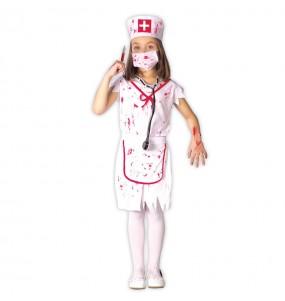 Disfarce Enfermeira Zombie Sangrenta menina para que eles sejam com quem sempre sonharam