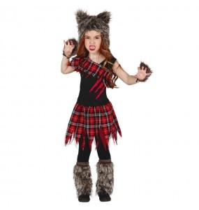 Disfarce Halloween Lobisomem feroz meninas para uma festa Halloween