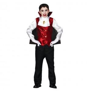 Disfarce Halloween Vampiro Drácula para meninos para uma festa do terror