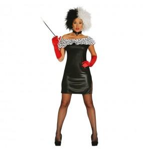 Disfarce original Cruella mulher ao melhor preço
