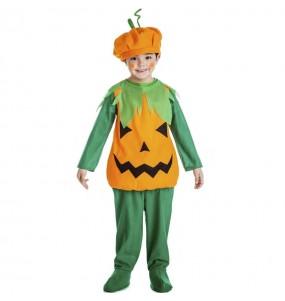 Fato de Abóbora laranja para menino