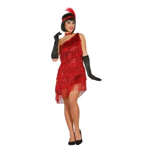 Disfarce original Charleston vermelho mulher ao melhor preço