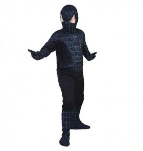 Disfarce Spider Hero Black menino para deixar voar a sua imagina??o