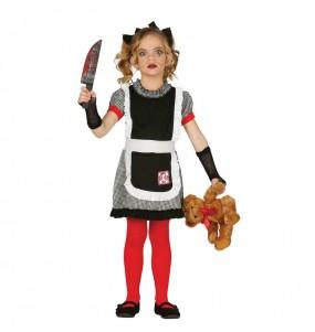 Disfarce Halloween Boneca diabólica gótica meninas para uma festa Halloween