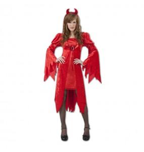 Fato de Diaba Malvada mulher para a noite de Halloween