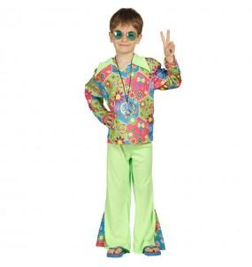 Disfarce Hippie Flores menino para deixar voar a sua imaginação
