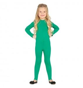 Disfarce Maillot verde spandex menina para que eles sejam com quem sempre sonharam