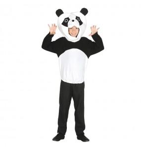Disfarce Urso Panda menino para deixar voar a sua imaginação