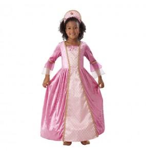 Disfarce Princesa Rosa menina para que eles sejam com quem sempre sonharam